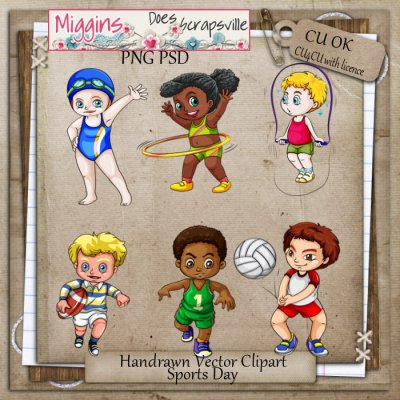 CU Hand Drawn Sports Day Clipart