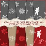 CU/CU4CU Flower Theme Overlays & Papers