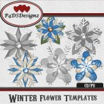 Winter Flower Templates