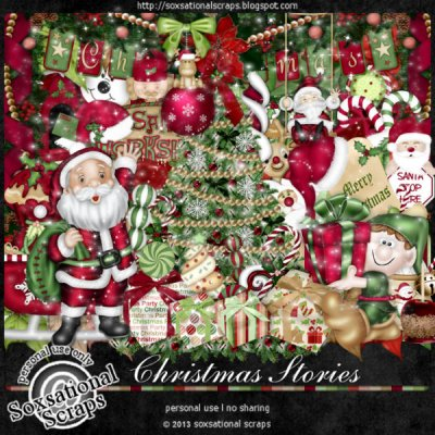 Christmas Stories Page Kit