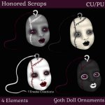Goth Doll Ornaments (CU/PU)