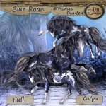 Blue Roan Horses Painted