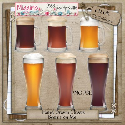 CU Hand Drawn Clear Glass Clipart - Beer