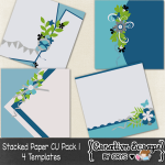 Stacked Paper Template Pack 1