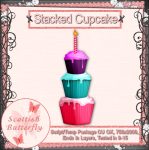 Stacked Cupcake Script/Template Package