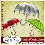 Candy Cane Umbrella Template
