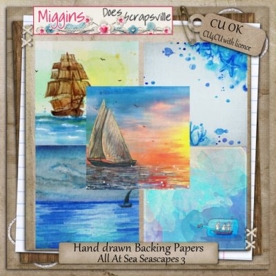 CU All At Sea Seascape papers 3