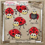 CU Hand Drawn Bugtopia- Cute Bugs Clipart
