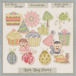 Lady Bug Party Sticker Pack