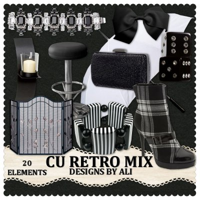 CU Retro Black & White Mix TS