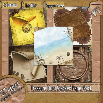 TREASURE HUNT STACKED PAPER PACK - TAGGER SIZE