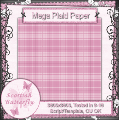 Mega Plaid Paper Script/Template