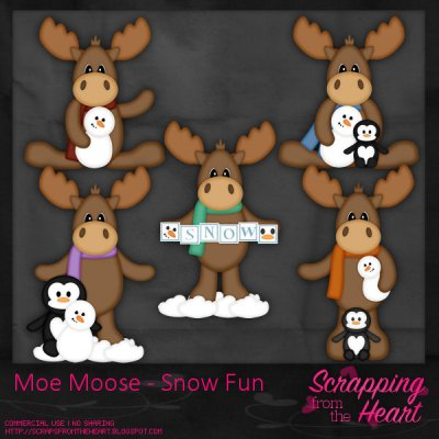 Moe Moose - Snow Fun Templates