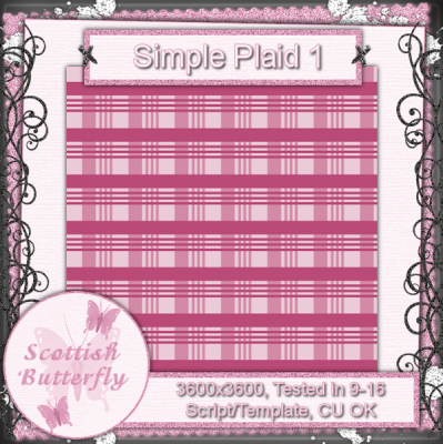 Simple Plaid 1 Paper Script/Template