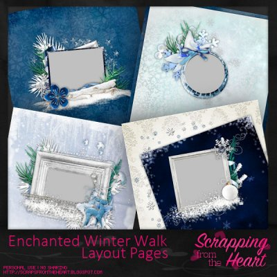 Enchanted Winter Walk Layout Set