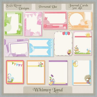 Whimsy Land Journal Cards