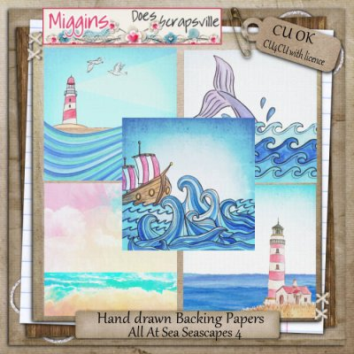 CU All At Sea Seascape papers 4