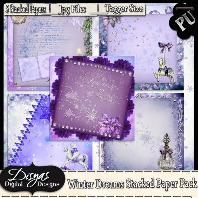 WINTER DREAMS STACKED PAPER PACK - TAGGER SIZE