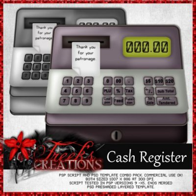Cash Register - Combo Pack