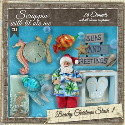 Beachy Christmas Stash 1