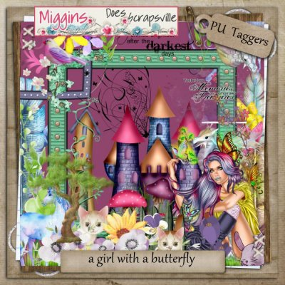 Girl with a butterfly Taggers PU kit
