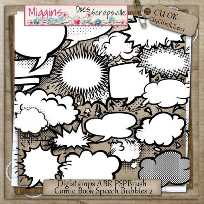 CU Comic Speechbubbles Digistamps & Brushes 2