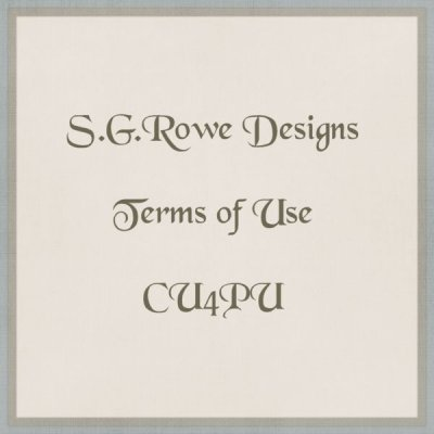 S.G.Rowe Designs CU4PU Terms of Use