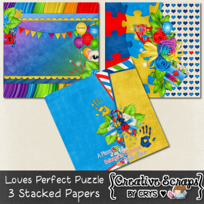 Loves Perfect Puzzle Stacked Papers