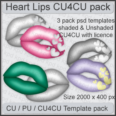 Heart Lips Template Pack