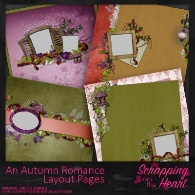 An Autumn Romance Layout Set