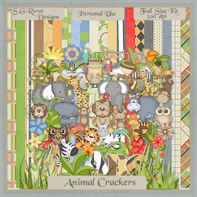 Animal Crackers Scrap Kit - Full Size
