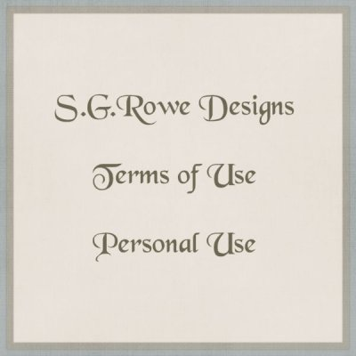 S.G.Rowe Designs PU Terms of Use