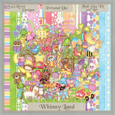 Whimsy Land Scrap Kit - Full Size