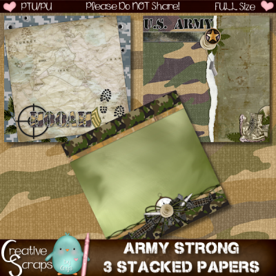 Army Strong Stacked Papers