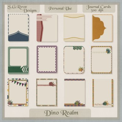 Dino Realm Journal Cards