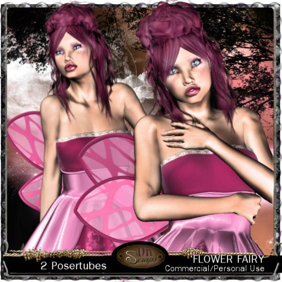 Flower fairy Girl - Click Image to Close