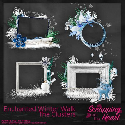 Enchanted Winter Walk Clusters