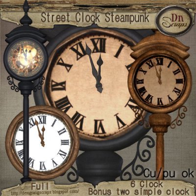 Street Clock Steampunk