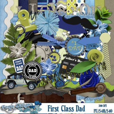 First Class Dad Full Page