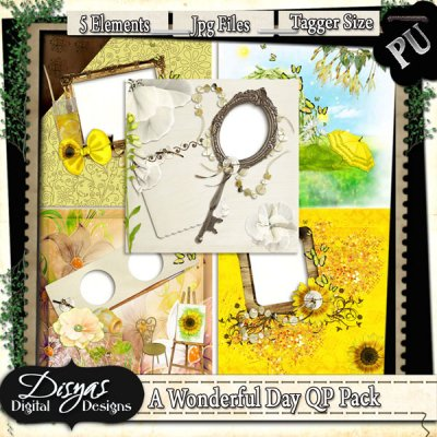 A WONDERFUL DAY QUICK PAGE PACK TAGGER SIZE
