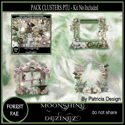 Forest Fae PU Cluster Frames