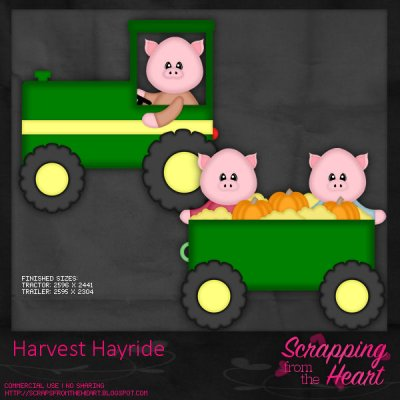 Harvest Hayride Templates