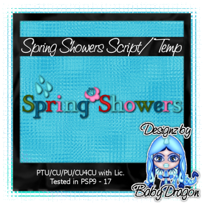 Spring Showers Word Art Script
