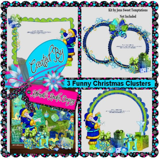 Clusters Funny Christmas - Click Image to Close
