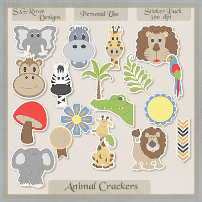 Animal Crackers Sticker Pack