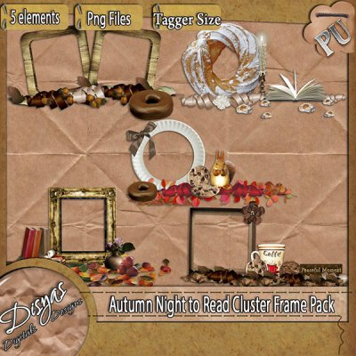 AUTUMN NIGHT TO READ CLUSTER FRAME PACK - TAGGER SIZE