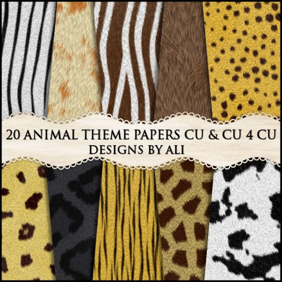 CU 4 CU Animal Fur Papers TS - Click Image to Close