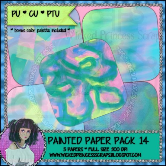Painted Papers 14 CU/FULL - Click Image to Close