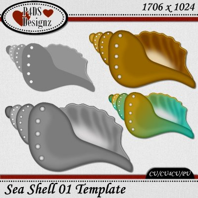 Seashell 01 Template