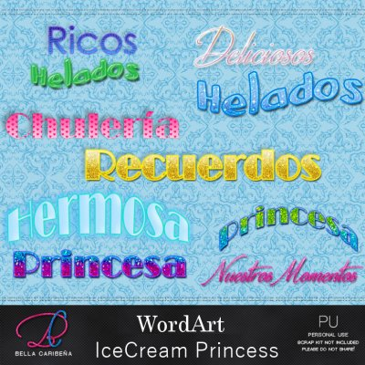IceCream Princess WordArt